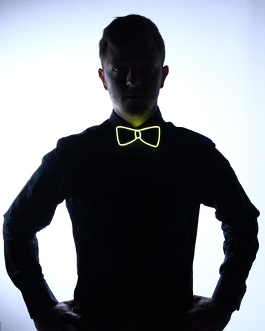 Light Up Bow Tie - Yellow